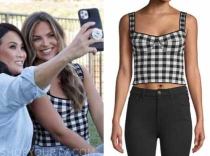 hannah brown, the bachelorette, black and white check top
