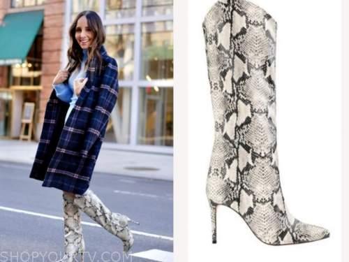 lilliana vazquez, snakeskin boots