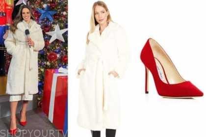 kacie mcdonnell, fox nation, ivory fur coat, red pumps