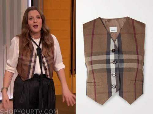 drew barrymore, drew barrymore show, plaid vest