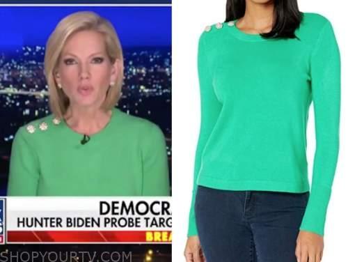 shannon bream, fox news at night, green sweater