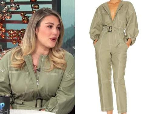 carissa culiner, green jumpsuit, E! news, daily pop