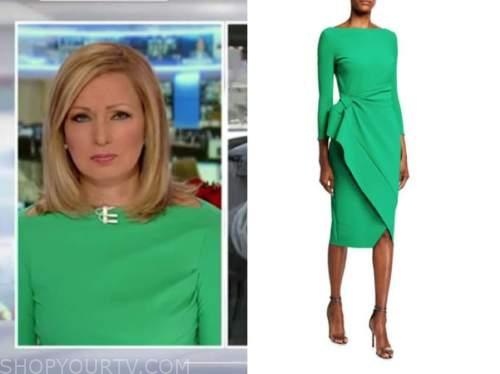 america's newsroom, sandra smith, green boatneck dress
