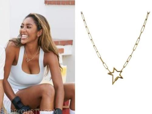 tayshia adams, the bachelorette, gold star necklace