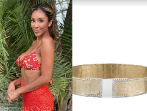 tayshia adams, gold cuff bracelet, the bachelorette