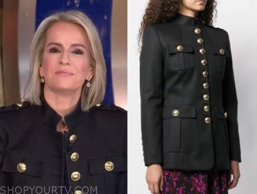 dr. jennifer ashton, good morning america, black military jacket with gold buttons