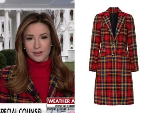 kristin fisher, america's newsroom, red plaid coat