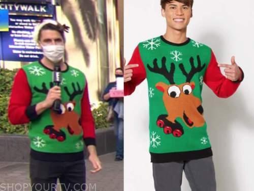 scott tweedie, E! news, daily pop, reindeer sweater