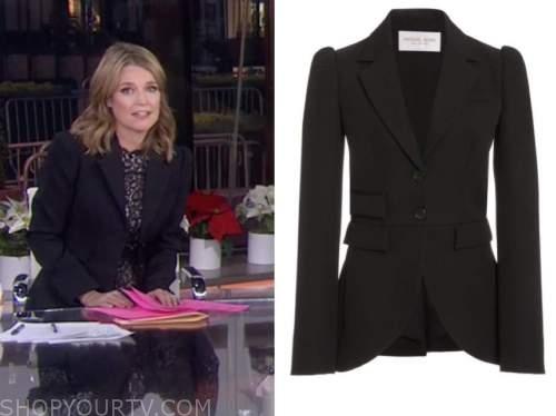 savannah guthrie, the today show, black puff sleeve blazer