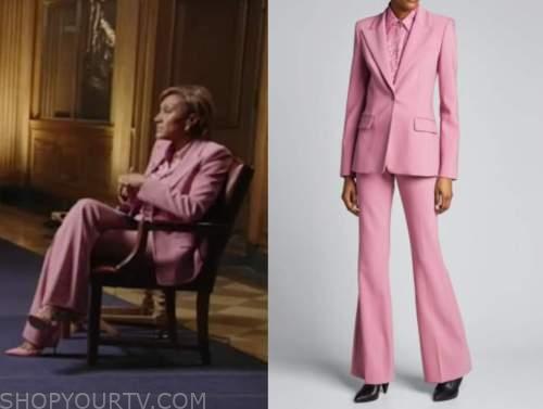 robin roberts, good morning america, pink pant suit, pink jacquard blouse