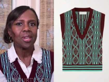debroah roberts, good morning america, sweater vest