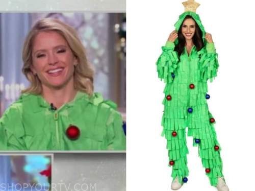 sara haines, the view, christmas tree onesie