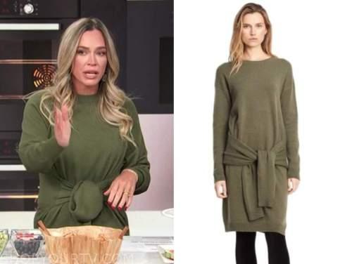 teddi mellencamp, E! news, daily pop, green sweater dress