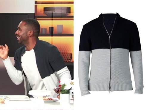 justin sylvester, E! news, daily pop, colorblock sweater
