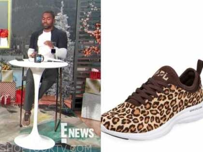 justin sylvester, E! news, daily pop, leopard sneakers