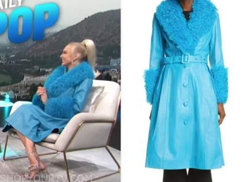 christine quinn, blue fur leather coat, E! news, daily pop