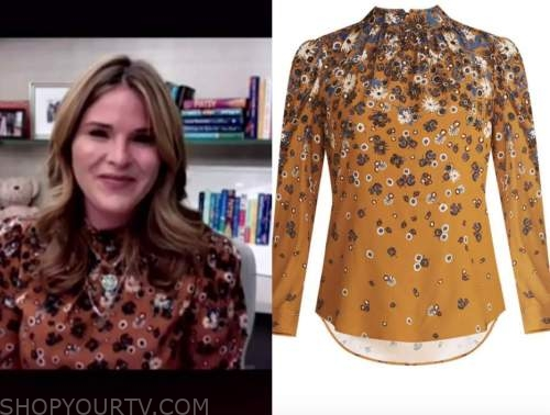 jenna bush hager, the today show, floral blouse