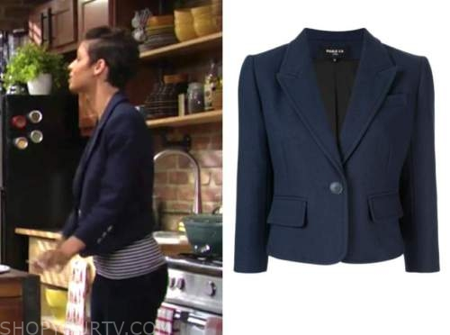 elena dawson, brytni sarpy, the young and the restless, navy blue blazer