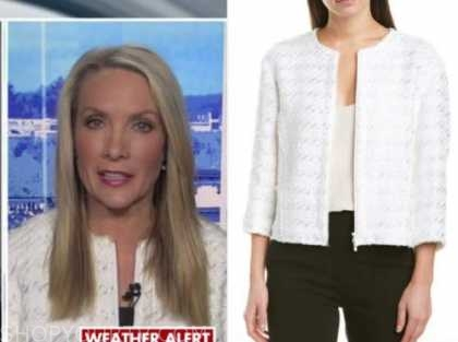 dana perino, the daily briefing, white houndstooth jacket