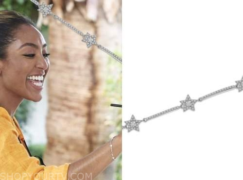 tayshia adams, the bachelorette, diamond star bracelet