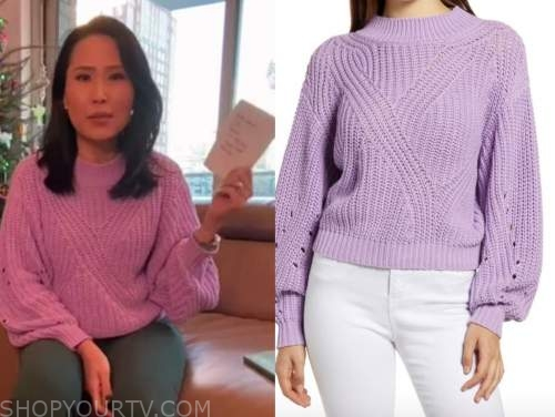 vicky nguyen, purple sweater, the today show
