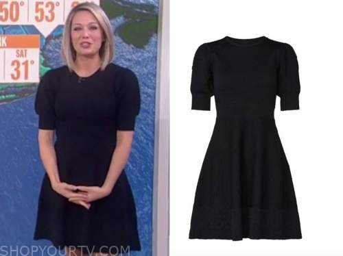dylan dreyer, the today show, knit puff sleeve flare dress