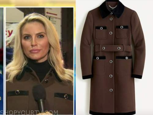 ashley strohmier, fox and friends, brown and black coat