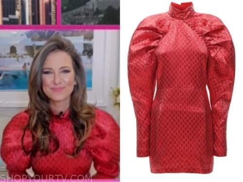 nikki novak, the today show, red puff sleeve dress