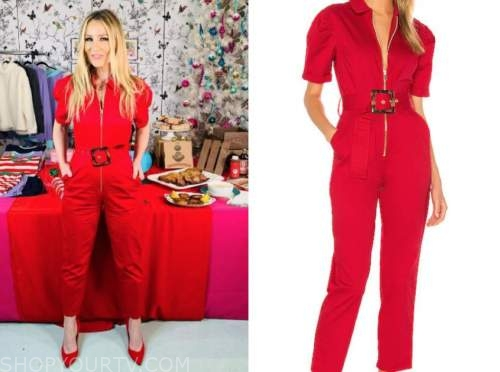 chassie post, the today show, red jumpsuit