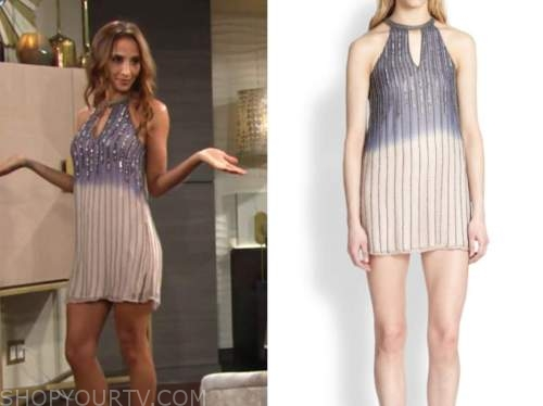 lily winters, ombre sequin dress, the young and the restless, christel khalil
