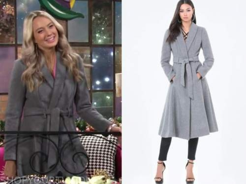 abby newman, melissa ordway, the young and the restless, gray coat