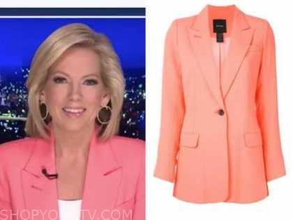 shannon bream, fox news at night, coral orange blazer