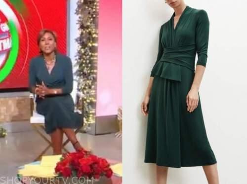 robin roberts, good morning america, green dress