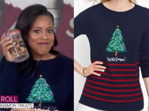 sheinelle jones, christmas tree sweater, the today show