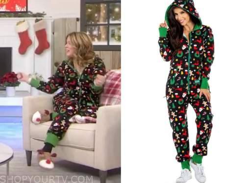 jenna bush hager, the today show, christmas onesie pajama