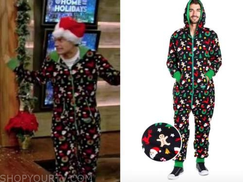 ryan seacrest, christmas onesie, live with kelly and ryan