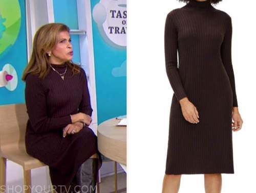 hoda kotb, the today show, brown turtleneck dress