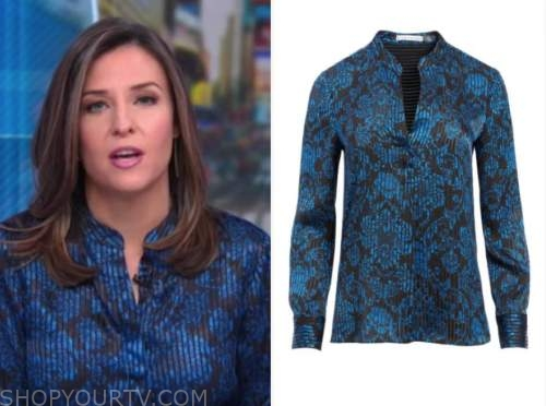 good morning america, mary bruce, blue floral blouse