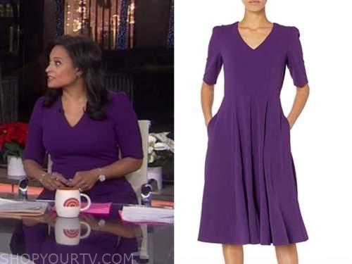 kristen welker, the today show, purple dress