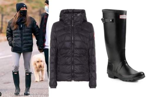tayshia adams, the bachelorette, black quilted jacket, black boots