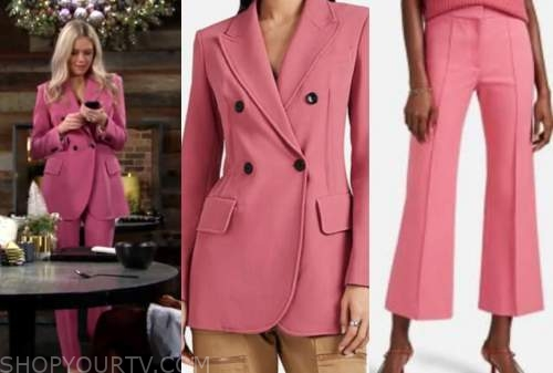 abby newman, melissa ordway, the young and the restless, pink pant suit