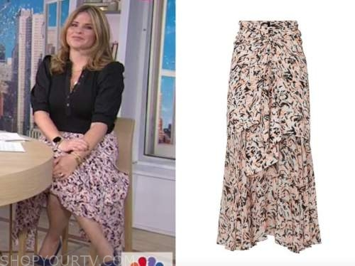 jenna bush hager, the today show, pink printed skirt
