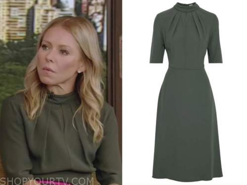 kelly ripa, live with kelly and ryan, green dress