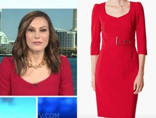lisa boothe, red belted sheath dress, outnumbered