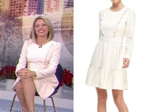 dylan dreyer, the today show, ivory white ruffle dress