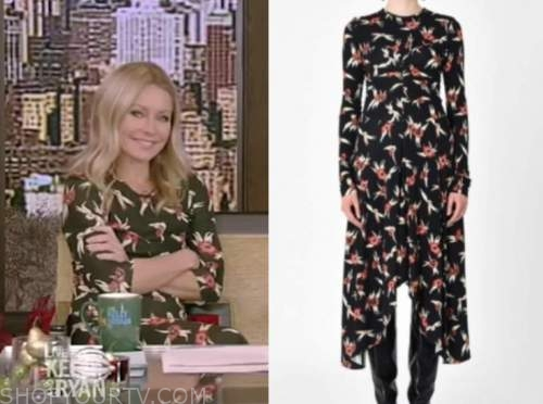 kelly ripa, live with kelly and ryan, floral midi dress