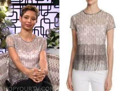 elena dawson, brytni sarpy, embellished top, the young and the restless