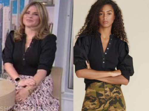 jenna bush hager, the today show, black button down top