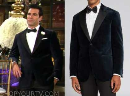 jordi vilasuso, rey rosales, the young and the restless, blue velvet dinner jacket, rey and sharon's wedding, shey