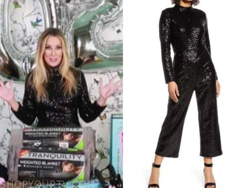 chassie post, the today show, black sequin mock neck jumpsuit